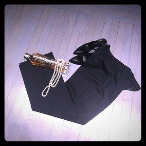 Lafayette 148 New York Pants - Lafayette 148 navy blue & black pinstriped pants