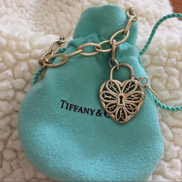 59 off tiffany co jewelry tiffany co filigree heart lock tiffany co filigree heart lock key bracelet aloadofball Choice Image