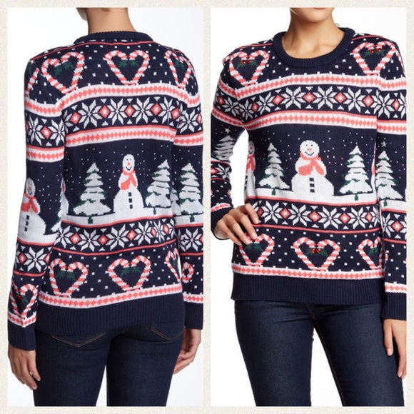 light up christmas sweater cotton emporium navy m - Nordstrom Christmas Sweaters