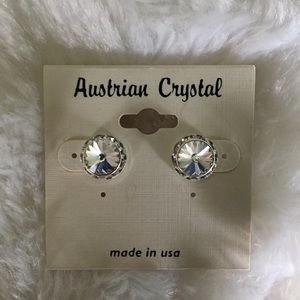 Jewelry - Austrian Crystal Sparkling Stud Diamond Earrings