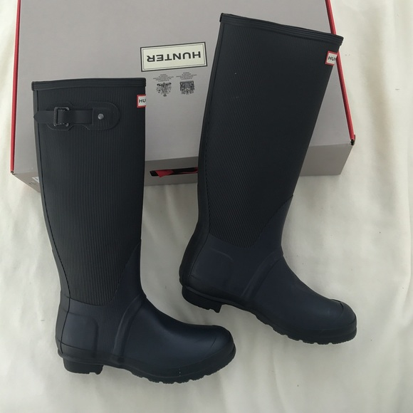 48% off Hunter Boots Shoes - Brand new hunter navy rain boots from ...