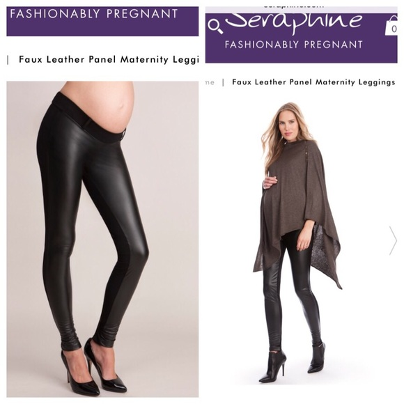 104d5b533b13f Seraphine Faux Leather (Maternity) Legging Sz 10. M_58503eb3680278f4ff08354c