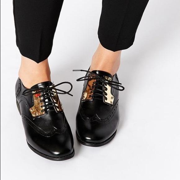 cf018fd44 ASOS Shoes - ASOS London Rebel Black Tori Metal Lace Up Brogues