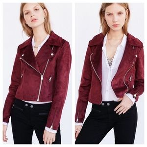 Urban Outfitters Jackets & Blazers - Urban Outfitters Suede Moto Jacket