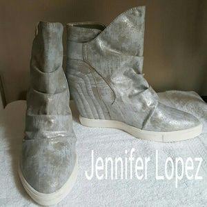 NEW! Jennifer Lopez Hidden Wedge Ankle Boot sz 9.5