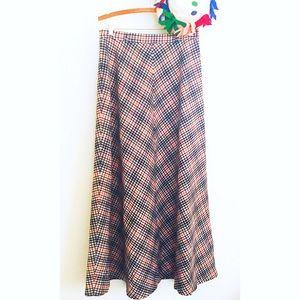 ⛄️Vintage Wool Plaid Maxi Skirt