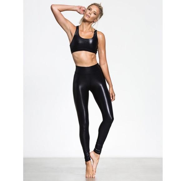 4d170e7d17a47 Carbon 38 Pants   Takara Black Shiny Leggings   Poshmark