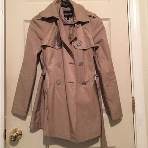 Express tan trench coat