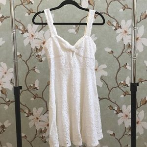 NWT Forever 21 White Eyelet Mini Dress