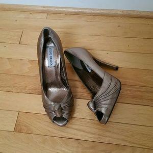 "Steve Madden Leilana 4.5"" open toe heels"