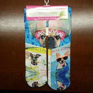 Pink Cookie Accessories - Pink Cookie knee high socks