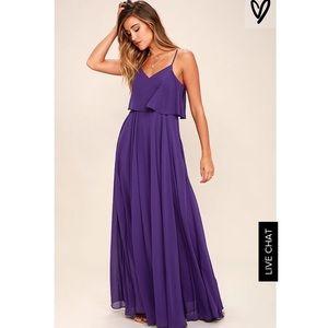 NWT Lulus Purple Love Runs High Maxi Dress - XS