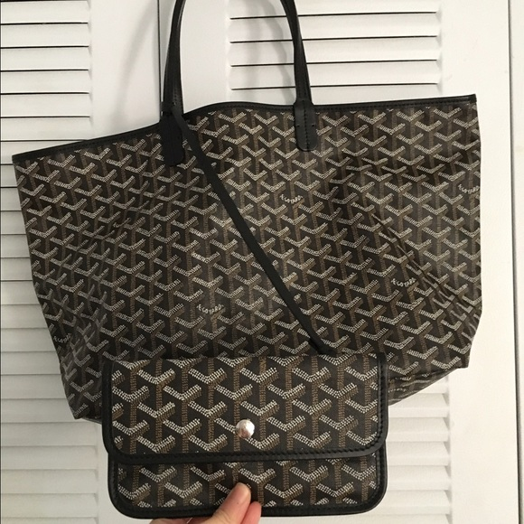 Goyard Bags St Louis Tote In Pm Size Black Color Poshmark