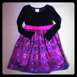 iris & ivy Other - ❄️Girls pink/black party dress