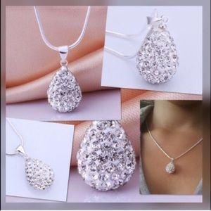 Jewelry - Silver Water Drop Necklace and Pendant