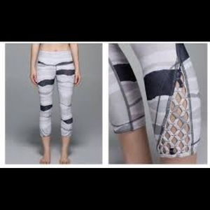 lululemon athletica Pants - BNWT Lululemon true self crop pant black white 8