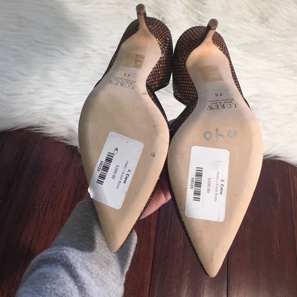 J. Crew Shoes -   J. Crew   Pointed Toe Sparkly Holiday Heels