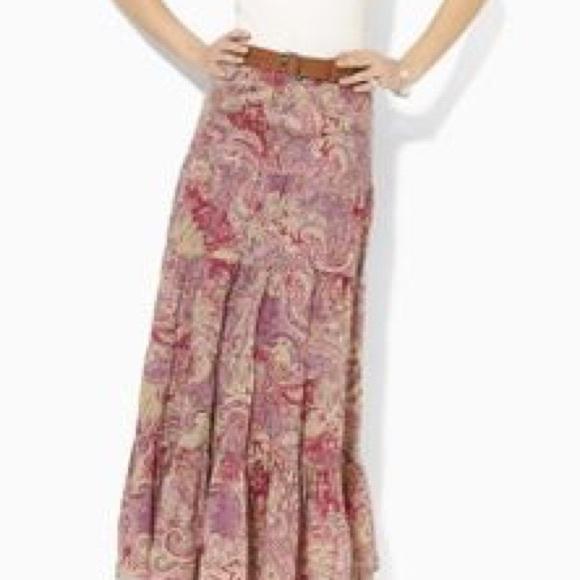 b4e974d090 Ralph Lauren Skirts | Moriah Tiered Maxi Skirt | Poshmark