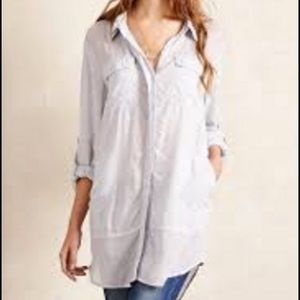 Holding Horses Sunwashed Tunic Button Down xs