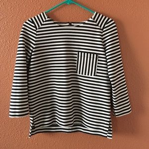 Madewell Gallerist Ponte Top with Pocket