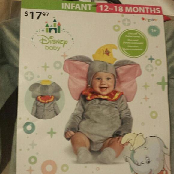 22af4852eb2e Dumbo Baby Costume   Infant Baby Girl Pink Dumbo Elephant Animal ...