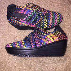 bernie mev. Shoes - bernie mev. Multi colored wedged sandals. NEW