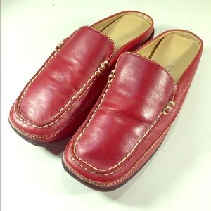 Bass Shoes - BASS Red Leather Miles in Ladies Sz 6M