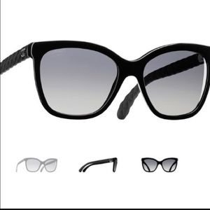 Chanel Black Polarized Sunglasses