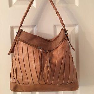 Coldwater Creek Handbags - 🛍 Coldwater Creek Tan Leather Hobo Bag