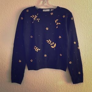 Vintage Sweaters - Vintage 1990s Embroidered Sweater