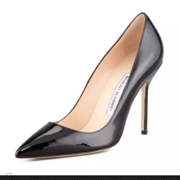 e532d2c00df4 Manolo Blahnik BB Patent 105mm Pump Black Size 38.  M 5850772d680278ee53090151