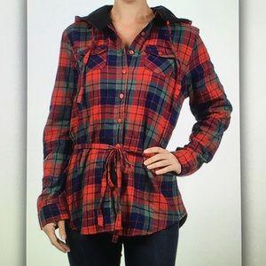 Jackets & Blazers - ⛺️Red/blue⛺️plaid fleece lined jacket