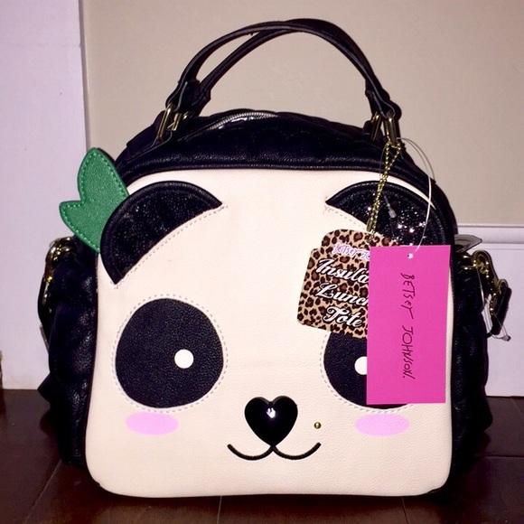 29f76402bb Betsey Johnson Panda Purse Bag