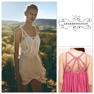 Anthropologie cutout gauze tank Vanessa Virginia