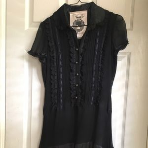 Sugarlips Black Lace and Ruffle Dress