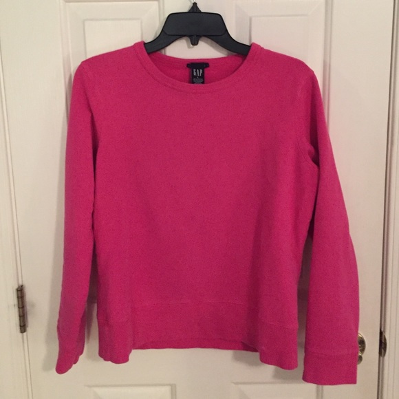 70% off GAP Tops - Pink Gap Crewneck Sweatshirt from Bethany's ...