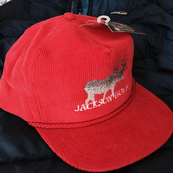 NWT Jackson Hole Wyoming red moose cap hat Boutique