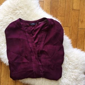 Lindex Tops - Plum Colored Shirt