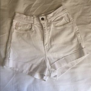 White high waisted American apparel shorts