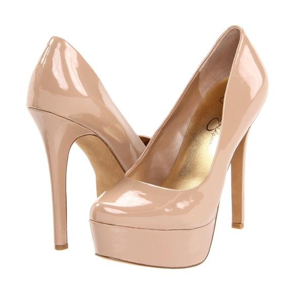 5e5390b1be6d Jessica Simpson Shoes - Jessica Simpson Waleo Patent Nude Platforms 7.5