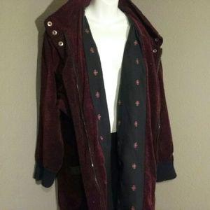 Gallery Jackets & Blazers - Gallery Woman EUC 1X maroon blk coat