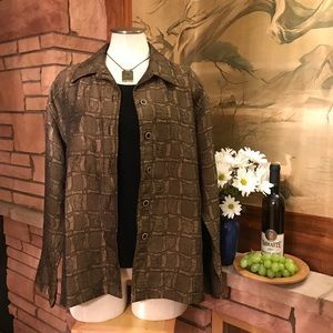 Chico's Jackets & Blazers - 🍇 Textured Coppery-Colored Chico's Jacket