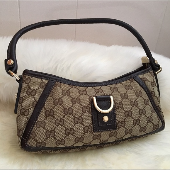 85c701fee8c Gucci Handbags - GUCCI monogram Abbey D-ring small hobo pochette