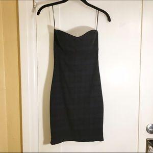 SALE❗️Zara Tartan Plaid Strapless Dress