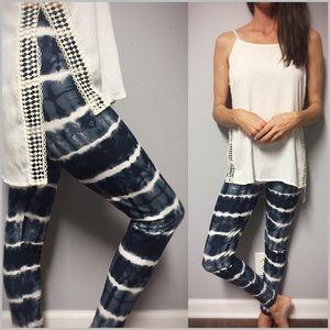 Pants - 🔁Restock🔁 Navy Tie Dye Print Leggings