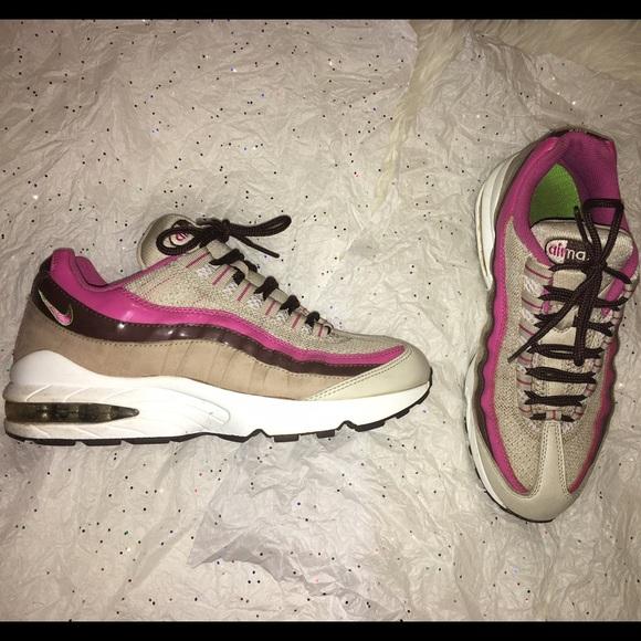 Nike Air Max 95 Tan Brown Pink Beige 6.5Y / 8.5M