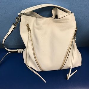 Rebecca Minkoff Handbags - White Rebecca Minkhoff Hobo with gold hardware