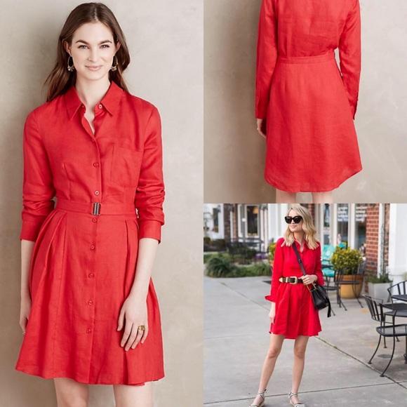 fe3f24ded4 Anthropologie Dresses   Skirts - New anthropologie hd Paris Laila linen  shirt dress