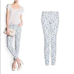 Mango Floral Pant Size34/36 US4/6