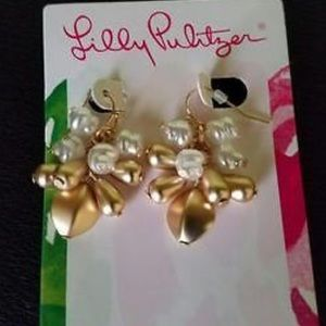 Lilly Pulitzer Embellished Drop Earrings-- NWT